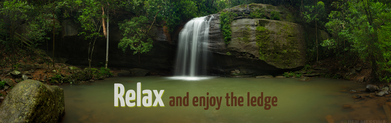 Relax and enjoy the ledge