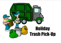 Town Offices Closed for Memorial Day – Trashed Pickup Delayed a Day