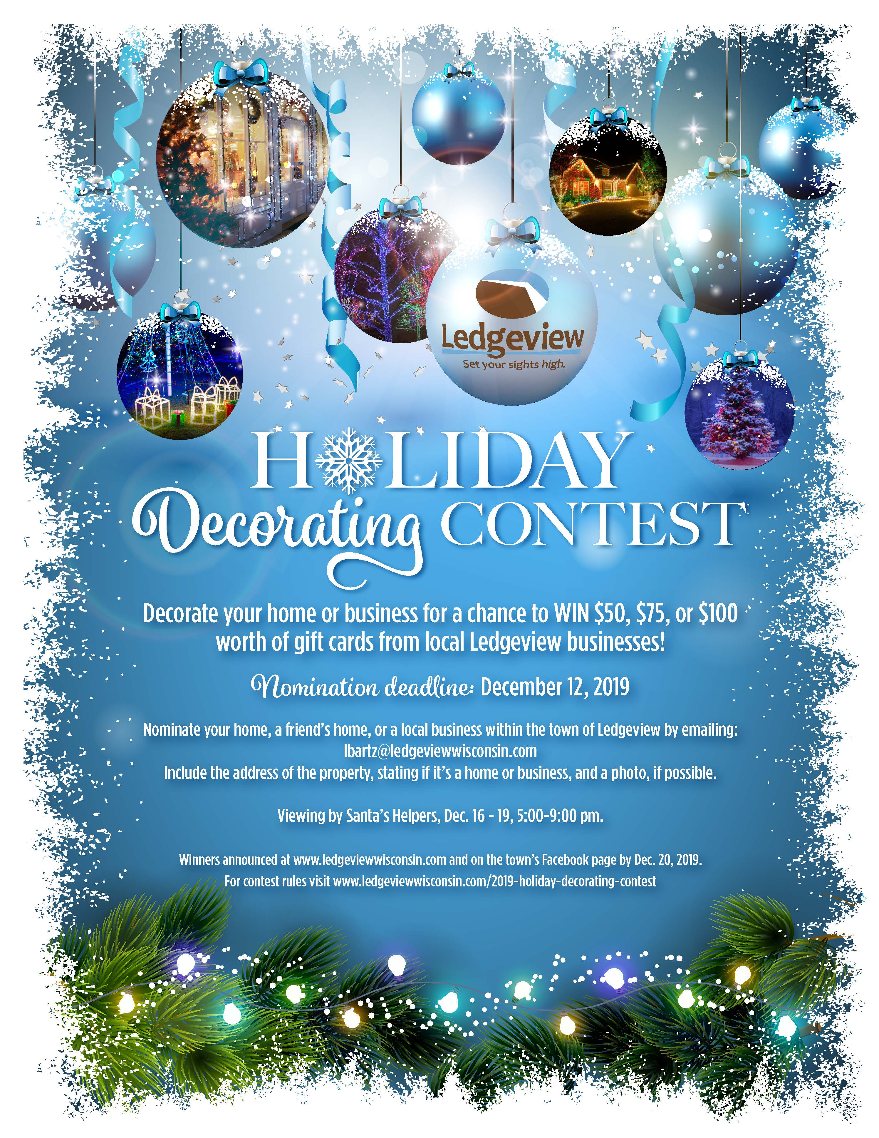 2019 Holiday Decorating Contest