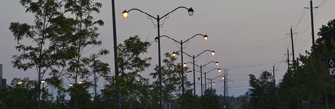 GV (Monroe Rd) Street/Trail Lights Out at Town Entrance