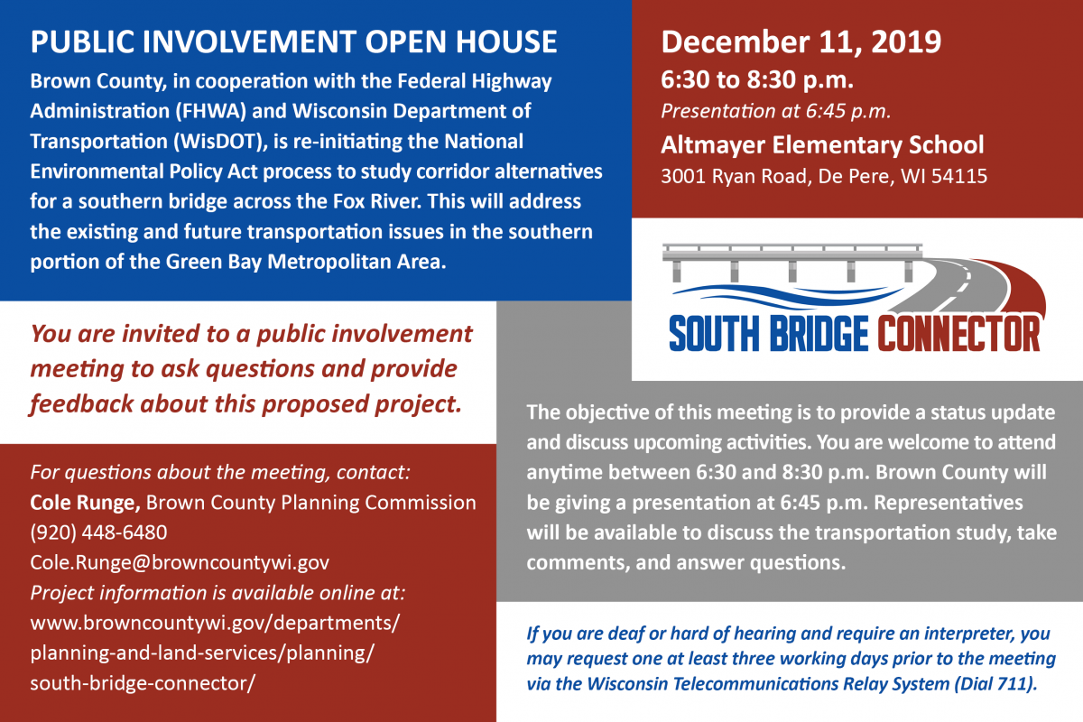 Public Involvement Open House – South Bridge Connector