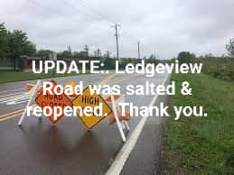 Ledgeview Road is Reopened